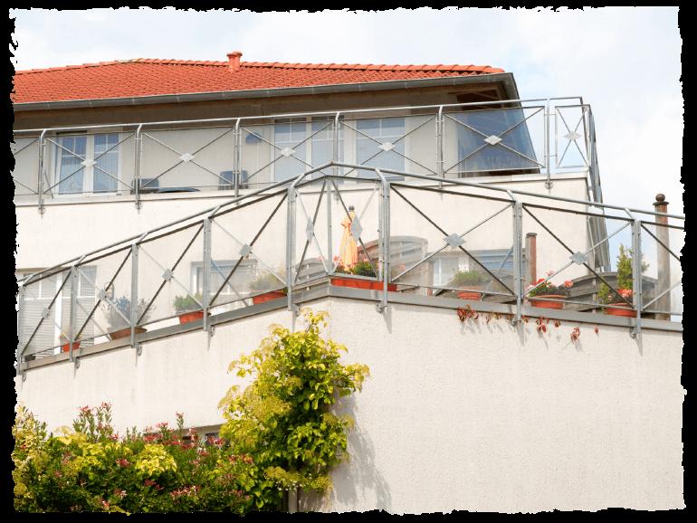 Balkon vom Standort Norden im Seniorenwohnpark Nordlicht.