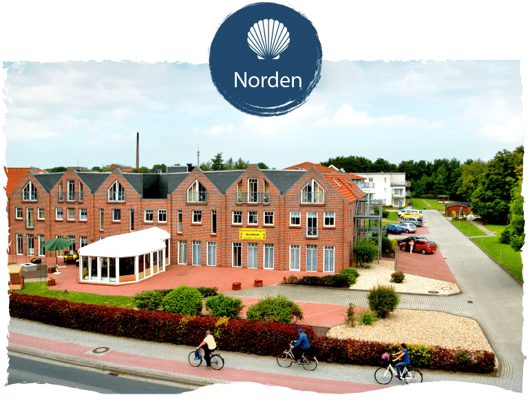 Seniorenwohnpark Nordlicht Standort Norden mit Logo Norden.